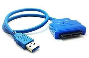 Micro SATA Cables - USB 3.0 to Micro SATA 16 Pin 1.8 Inch SSD Adapter Cable SATA III