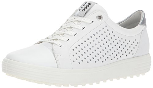 ECCO Women's Casual Hybrid Perforated Golf-Shoe, White, 41 EU/10-10.5 M US
