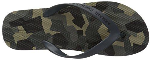 Armani Exchange Men's Art Print Classic Flip-Flop Verde Camouflage 3YizEab