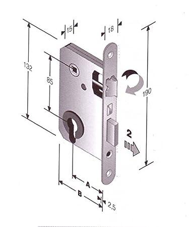 Salone Negozio On-Line Serratura Patent Per Porte Interne Foro ...