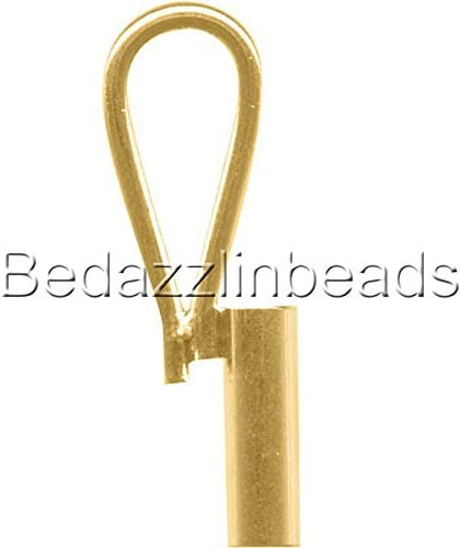 Vertical Brooch Converter for Changing Brooches and Pins to Pendants Plated Brass Metal Antique Bronze
