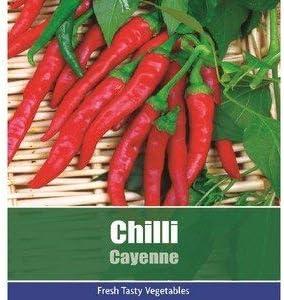 De Ree Chilli Cayenne Pepper Vegetable Fruit Plant 95 Seeds Hot Amazon Co Uk Garden Outdoors
