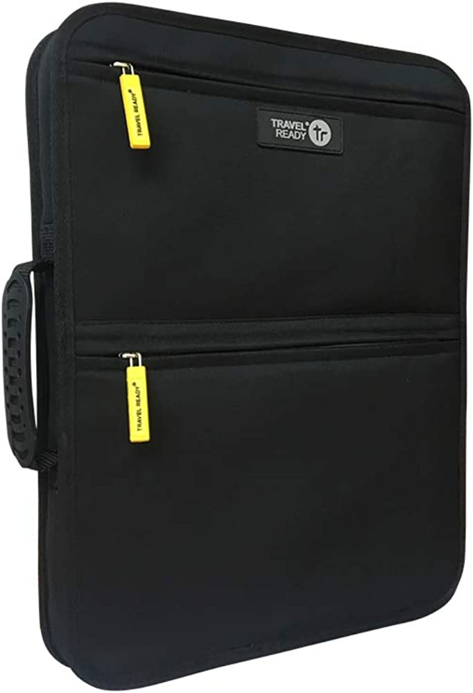 """Travel Ready Laptop Bag For Your Hardcase Carry On Luggage. Carry Essentials including up to 14"""" laptop. Easily Straps on with Adjustable Belt to Your Cabin Bag"""