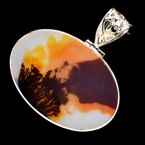 (Ana Silver Co Scenic Dendritic Agate Pendants 1 7/8
