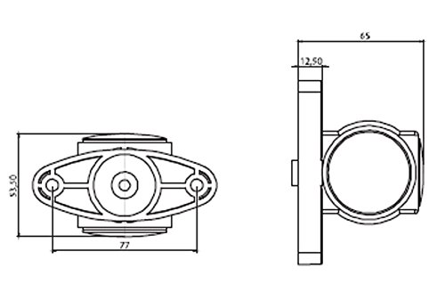2x Begrenzungsleuchten 12V LED Positionsleuchten Hochwertig Seitenleuchten Gelb Rot Wei/ß Neu LKW Anh/änger