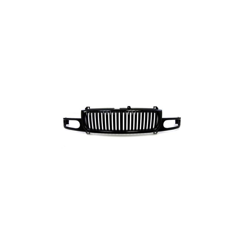 00 06 GMC Denali Yukon XL Black Vertical Front Grille Grill 01 02 03 04 05