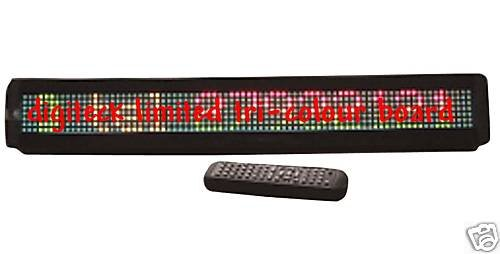 (Y0U-TRI-COLOUR 13 CHARACTER MESSAGE BOARD WITH REMOTE)
