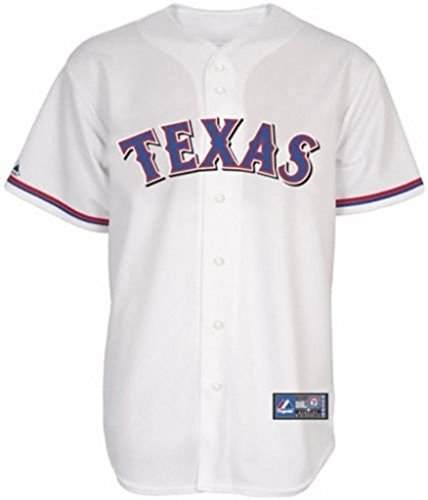 Replica White Rangers Jersey - VF Texas Rangers MLB Mens Home White Majestic Replica Jersey Big & Tall Sizes (3XT)