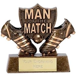 Man Of the Match3 Shield Football Trophy Award