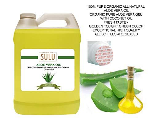 100% Pure Organic All Natural Aloe Vera Oil (12 oz)