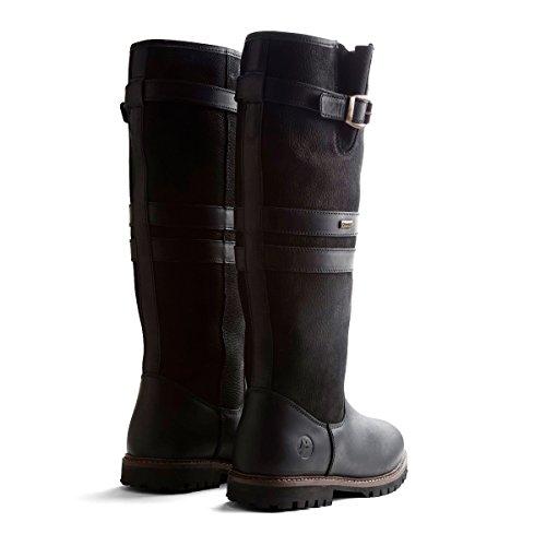 Travelin Dale Lady Outdoor Schneestiefel   Wasserdicht & 100% Wolle Gefüttert   Winter Schuhe   Boots Damen   Stiefel Leder Schwarz 40 EU
