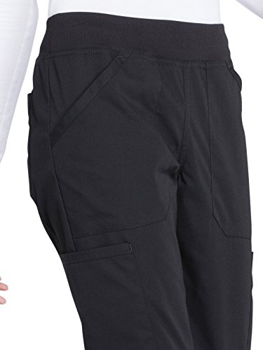 Cherokee Professionals Workwear Women's Elastic Waistband Pull On Cargo Scrub Pant Small Black by Cherokee (Image #3)