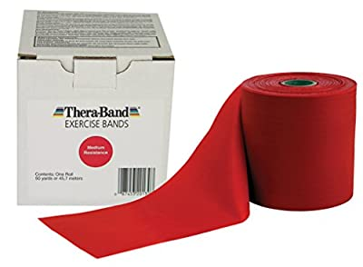 Thera-Band Professional Non-Latex Resistance Bands For Rehabilitation, Portable Fitness and Workout, Home Exercise, 50 Yard Roll Dispenser Box