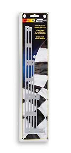 Mr. Gasket 6018 Universal Spark Plug Wire Divider Bracket Set - Brushed Aluminum