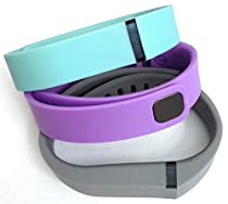 Set 3 Colors Large L 1pc Grey 1pc Violet 1pc Teal (Blue/Green) Replacement Bands With Clasp for Fitbit FLEX Only /No tracker/ Wireless Activity Bracelet Sport Wristband Fit Bit Flex Bracelet Sport Arm Band Armband
