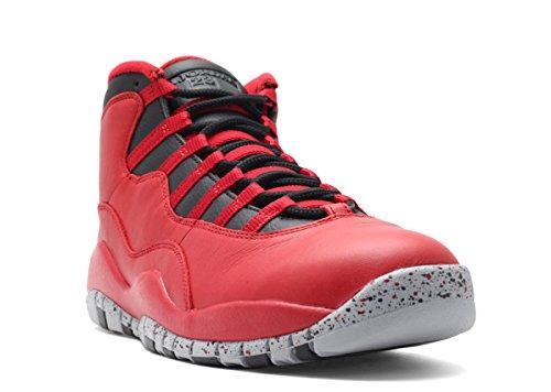 Jordan Air 10 Retro 30th Bulls Over Broadway Men's Shoes Gym Red/Black-Wolf Grey 705178-601 (8 D(M) US) (Jordan 8 Black Gym Red Black Wolf Grey)