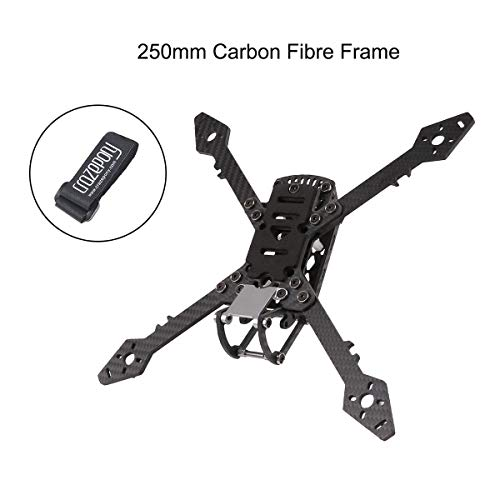 Crazepony 250mm FPV Racing Drone Frame with 4mm Arms, True X Freestyl Carbon Fiber Quadcopter Frame with Lipo Battery Straps