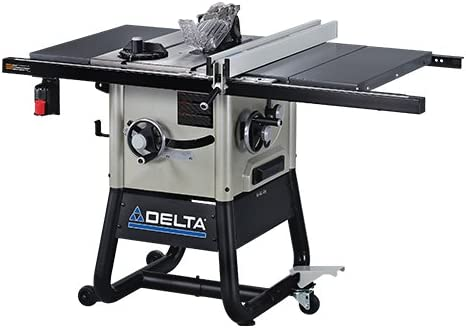Delta 36-5000 10-Inch Left Tilt Contractor Saw with 30-Inch RH Rip Steel Wings