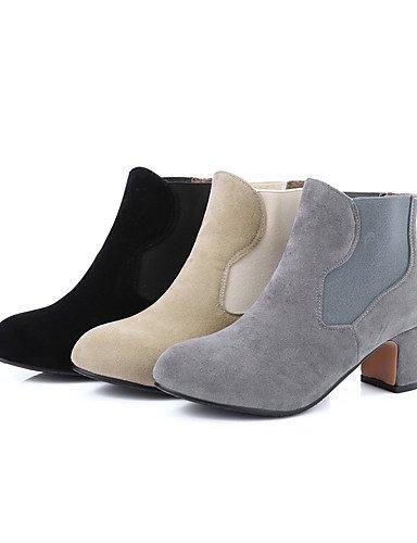 29f558aff8bf1c XZZ  Damen-Stiefel-Kleid   Lässig-Kunstleder-Blockabsatz-Modische Stiefel  ...