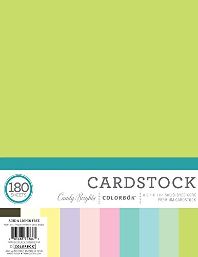 ColorBok 75364A 8.5'' by 11'' 180 Sheet Paper Pack Mega Paper Pack, Candy Bright, 8.5'' x 11'' by Colorbok