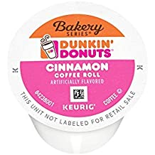Dunkin' Donuts Bakery Series Cinnamon Coffee Roll Flavored Coffee K-Cup Pods, For Keurig Brewers, 60 Count