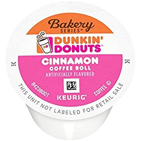 Dunkin Donuts Bakery Series K Cup Pods Cinnamon Coffee Roll 60 Count
