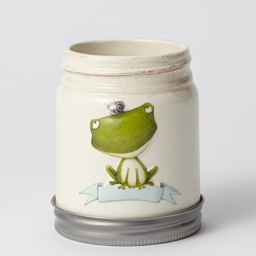 Department 56 Enesco Stacy Yacula Frog Herb Pot Planter, 4