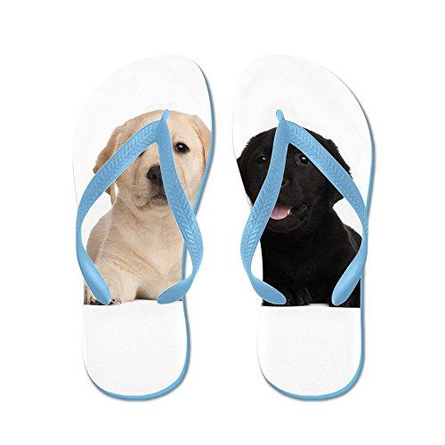 Cafepress Labrador Puppies - Flip Flops, Grappige String Sandalen, Strand Sandalen Caribbean Blue