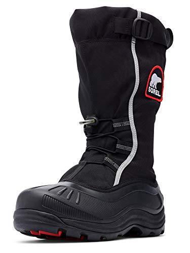 Sorel Men's Alpha Pac Extreme Snow Boot,Black/Red Quartz,10 M US