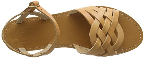 Knöchelriemchen Lattice Braun Tan Sandalen Damen Dune Leather Tan Leather UqxTEHnw