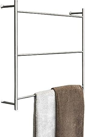 psba toallero escalera de pared para baño SPA toalla Hanger 23.6 acero mate: Amazon.es: Hogar