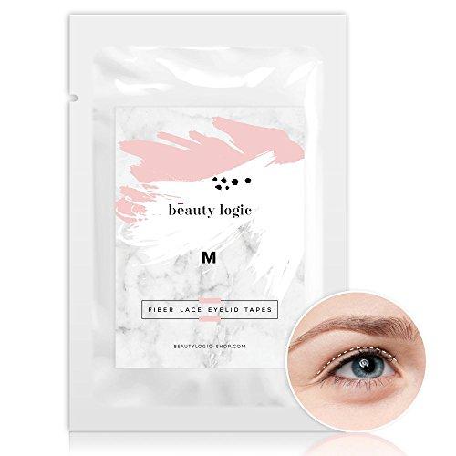 Beauty Logic Ultra Invisible Fiber Lace Eyelid Lift Kit - 120 pcs (Medium) Double Eyelid Tape perfect for hooded, droopy, uneven, or mono-eyelids, NO GLARE GUARANTEED (Double Eyelid Glue)