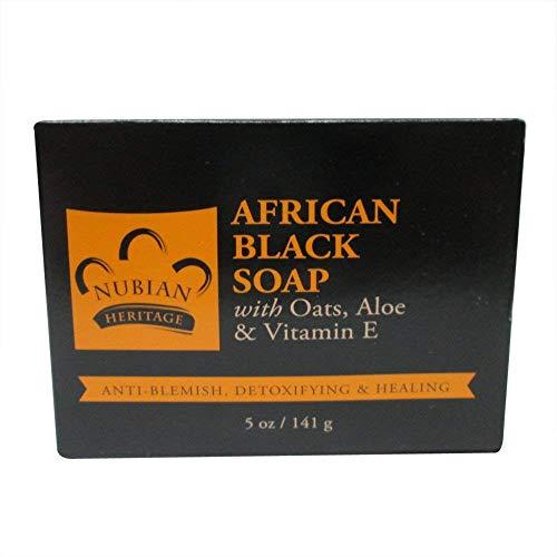 Nubian African Black Soap Bar Pack of -