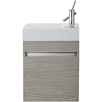 Cutler kitchen bath fvpiccwknd18 sangallo 18 in space - Space saving bathroom vanity ...