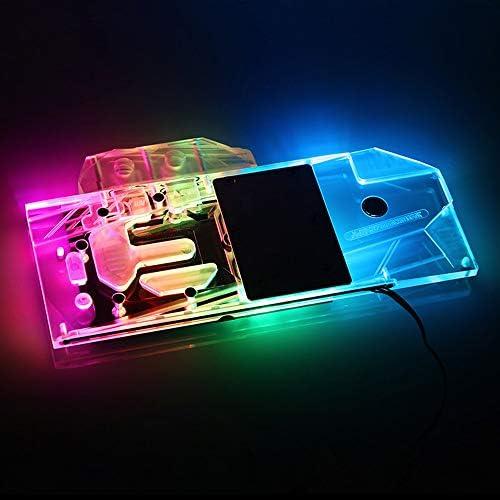 FANHE GPU Water Block Raffreddamento per XFX RX 5700 XT Thicc III Ultra 8G Boost Scheda Grafica Full Cover Rame/RGB Luce