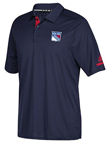 (adidas Men's NHL Locker Room Polo/Golf Shirt-New York Rangers-Navy-XL)