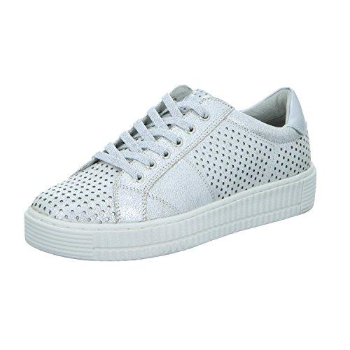 Marco Tozzi 2-2-73750-28-125 - Zapatos de cordones de Material Sintético para mujer 125WHITE MET.COMB