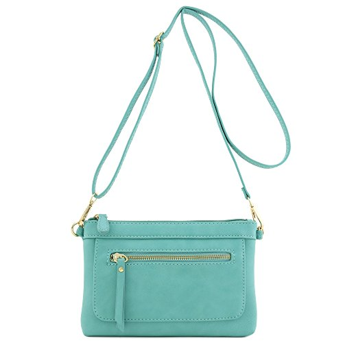 - Multi-functional Wristlet Clutch and Crossbody Bag (Turquoise)