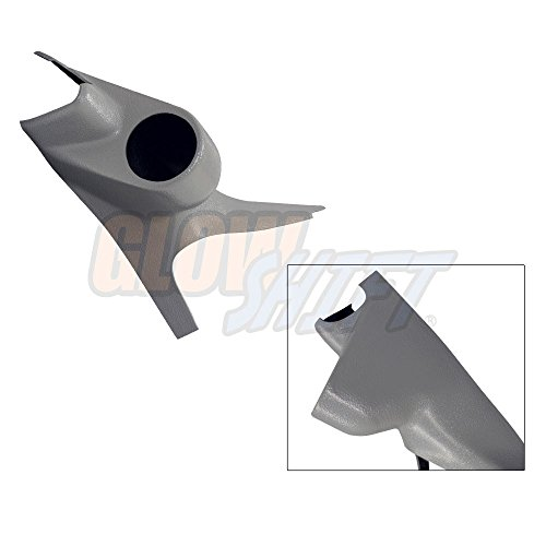 (GlowShift Gray Single Pillar Gauge Pod for 2003-2007 Ford Super Duty F-250 F-350 Power Stroke - Grab Handle Cutout - Factory Color Matched - Mounts (1) 2-1/16