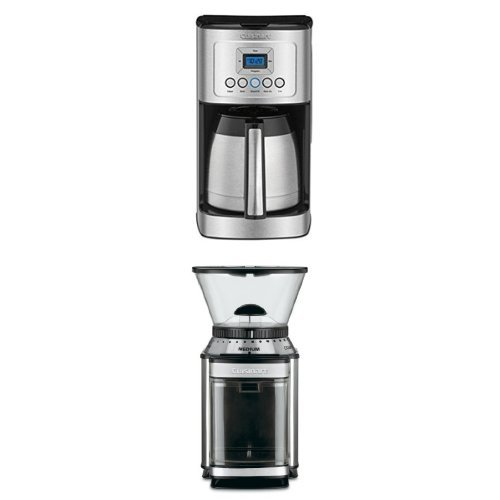 Cuisinart DCC-3400 12-Cup Programmable Thermal Coffeemaker and DBM-8 Burr Grinder Bundle (Machine Grinder Burr Coffee)