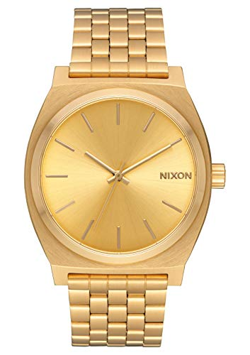 Nixon Time Teller All Gold Women's Watch (37mm. All Gold Face & Gold Metal Band) from NIXON