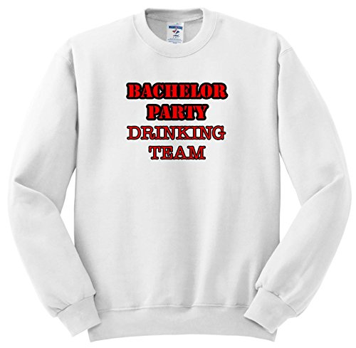 Stag,Bachelor Party - Bachelor Party Drinking Team Red - Sweatshirts - Adult Sweatshirt 4XL (ss_261062_7) ()