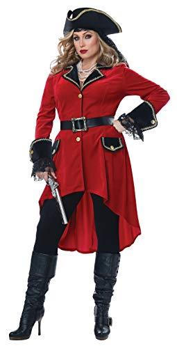California Costumes Size High Seas Heroine - Adult Plus Women Costume Red/Black 3XL ()