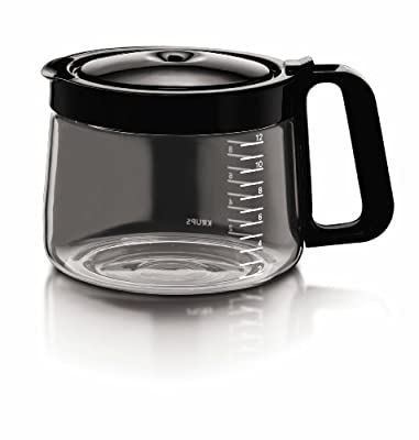 KRUPS XB502050 Coffee Carafe for Coffee Maker Machine KM4055 and KM5055, 12-Cup, Black