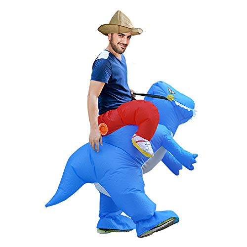 Ride Inflatable Dinosaur Trex Costume Sumo Wrestler Halloween Cosplay Outfit Adult Kids ()