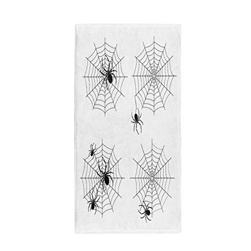 Semtomn 30 x 60 Inches Bath Towel Spiderweb