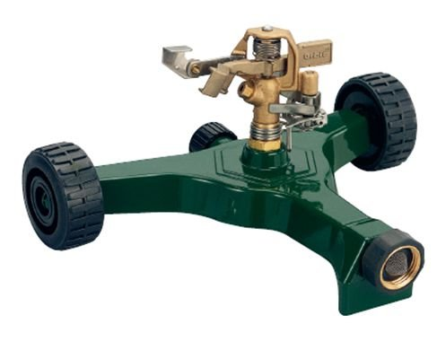 2 Pack - Orbit Impact Impulse Lawn Sprinkler on Aluminum Wheel Base - Waters Yard, 56186N