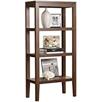 Ashley Furniture Signature Design - Deagan Pier Cabinet - 3 Fixed Shelves - Contemporary - Dark Brown