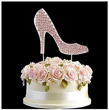 Terrific Crystal High Heel Shoe Pink Wedding Cake Topper Happy Birthday Birthday Cards Printable Inklcafe Filternl