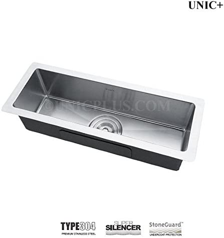 Combo Deal With Bottom Grid Stainless Steel Small Kitchen Bar Sink Rack KUR2385